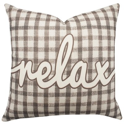 Relax Plaid Cotton Throw Pillow