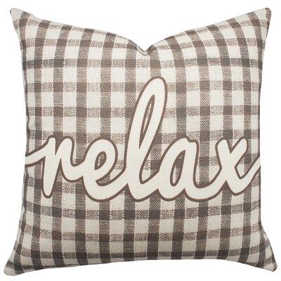 Relax Plaid Cotton Throw Pillow
