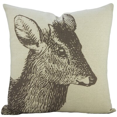 Fawn Cotton Throw Pillow