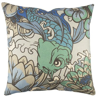 Koi Cotton Throw Pillow