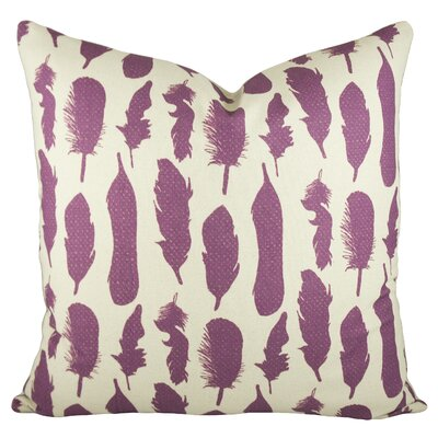Feathers Pillow Color: Purple