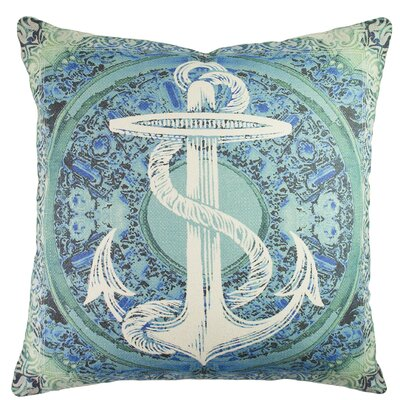 Anchor Baroque Cotton Throw Pillow