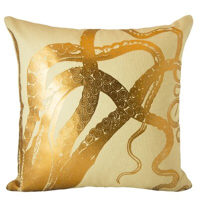 Octopus Cotton Throw Pillow Color: Copper