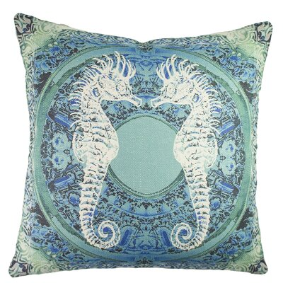 Seahorses Baroque Cotton Throw Pillow