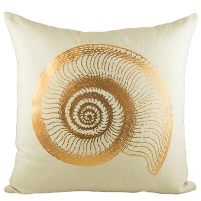 Seashell Cotton Throw Pillow