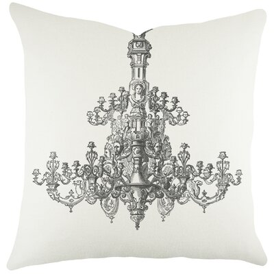 Chandelier Cotton Throw Pillow