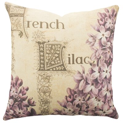French Lilacs Cotton Throw Pillow