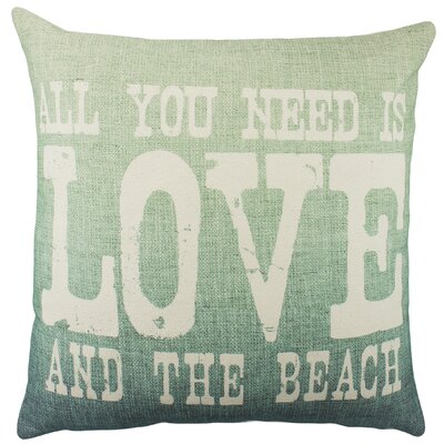 All You Need Is Love and the Beach Cotton Throw Pillow