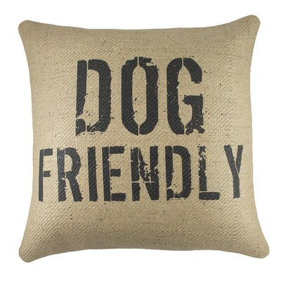 Dog Friendly Burlap Pillow