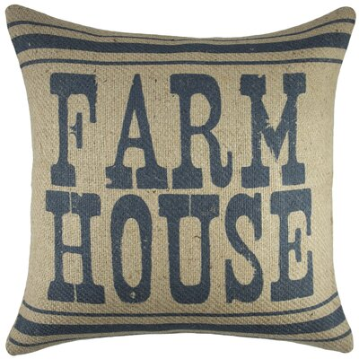 Farm House Burlap Throw Pillow