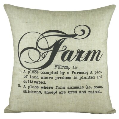 Farm Cotton Throw Pillow Color: White