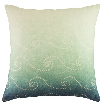 Waves Cotton Throw Pillow Color: Blue Ombre