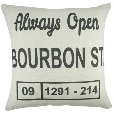 Bourbon St. Cotton Throw Pillow