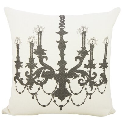 Chandelier Cotton Throw Pillow Color: Black