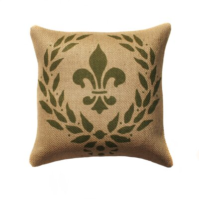 Wreath Burlap Throw Pillow