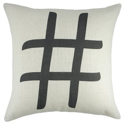 Hashtag Cotton Throw Pillow