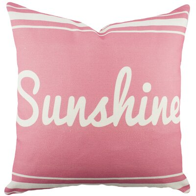 Sunshine Cotton Throw Pillow