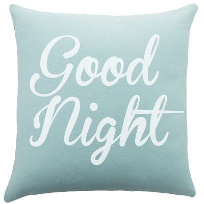 Good Night Cotton Throw Pillow
