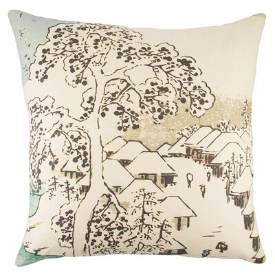 Chinoiserie Cotton Throw Pillow