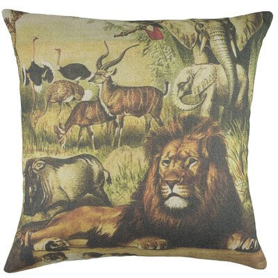 Safari Cotton Throw Pillow