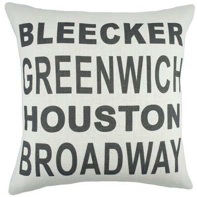 New York Cotton Throw Pillow
