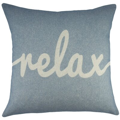 Relax Cotton Throw Pillow Color: Light Blue
