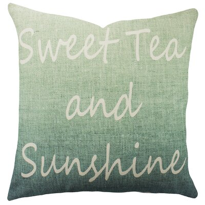 Sweet Tea and Sunshine Cotton Throw Pillow Color: Blue Ombre