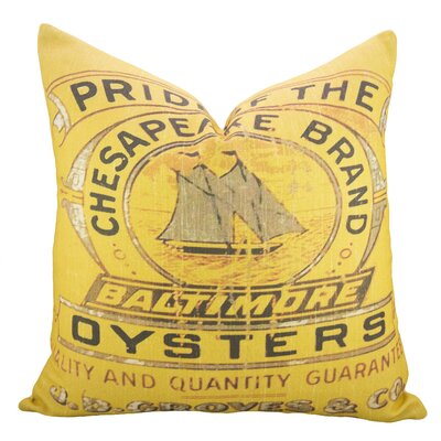 Oysters Cotton Throw Pillow