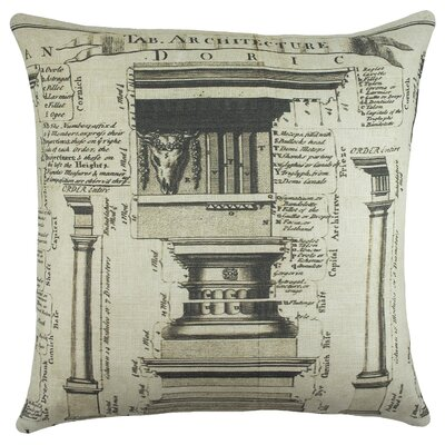 Architecture Cotton Throw Pillow