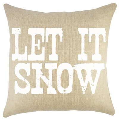 Let It Snow Burlap Throw Pillow Color: Natural