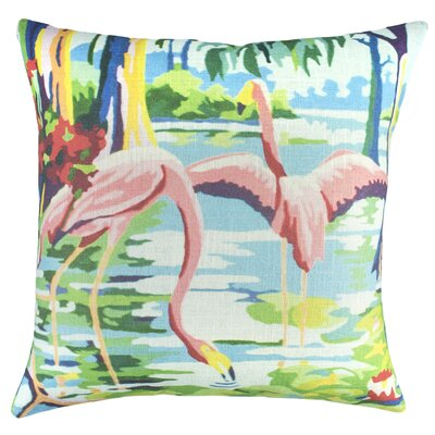 Flamingo Cotton Throw Pillow