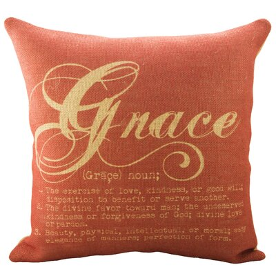 Grace Burlap Throw Pillow