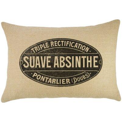 Absinthe Burlap Lumbar Pillow