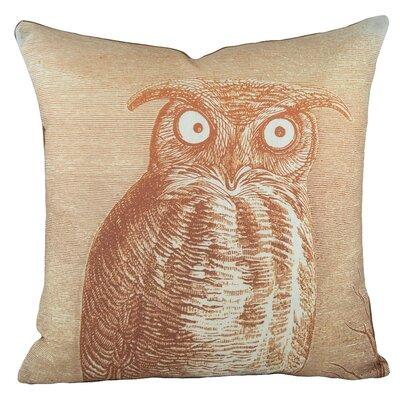 Owl Cotton Throw Pillow Color: Orange