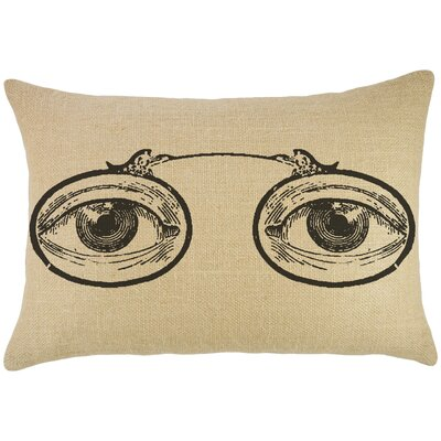 Eye Glasses Burlap Lumbar Pillow
