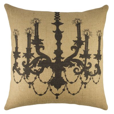 Chandelier Burlap Throw Pillow