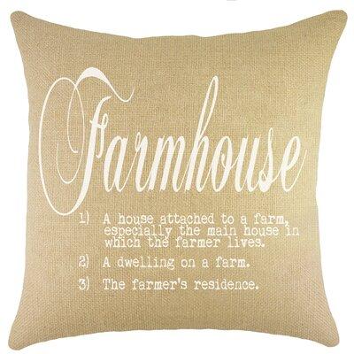 Farmhouse Burlap Throw Pillow Color: White
