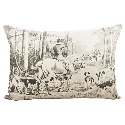 Fox Hunting Cotton Lumbar Pillow