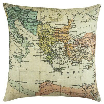 Roman Empire Map Cotton Throw Pillow