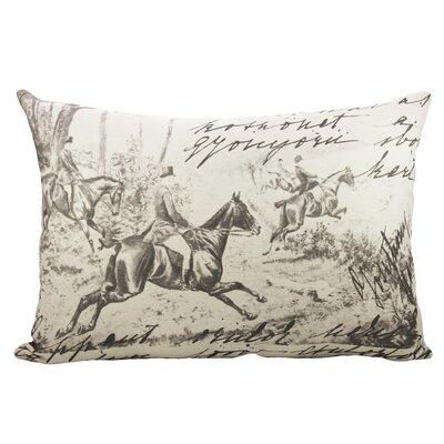 Horse Race Cotton Lumbar Pillow