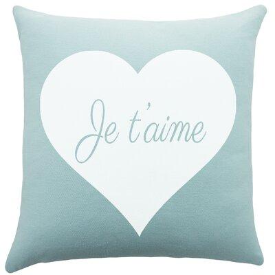 Je Taime Cotton Throw Pillow