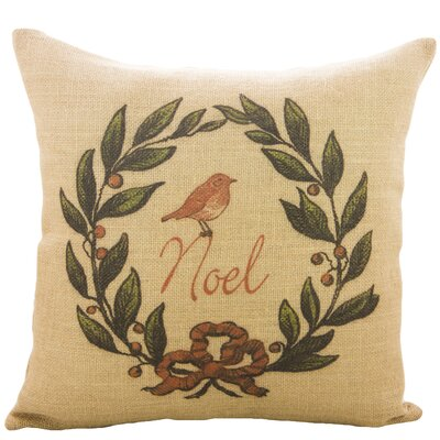 Noel Burlap Throw Pillow