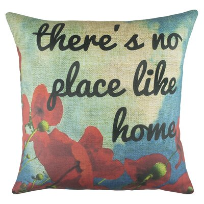 Theres No Place Like Home Cotton Throw Pillow