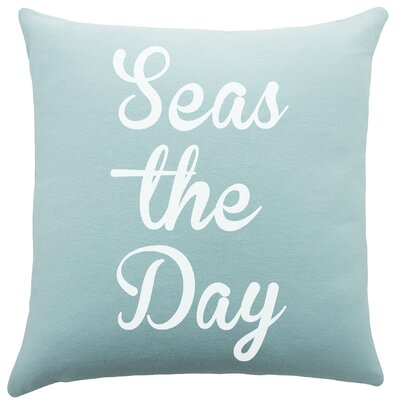 Seas the Day Cotton Throw Pillow