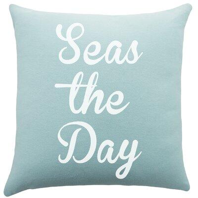 Seas the Day Cotton Throw Pillow