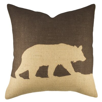 Bear Burlap Throw Pillow Color: Brown