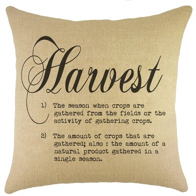 Harvest Burlap Throw Pillow Color: Black