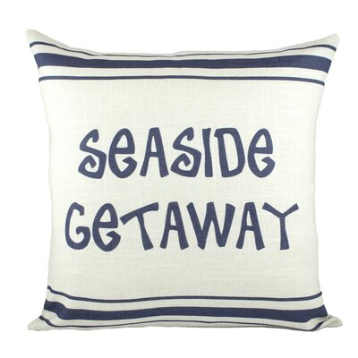 Seaside Getaway Cotton Throw Pillow