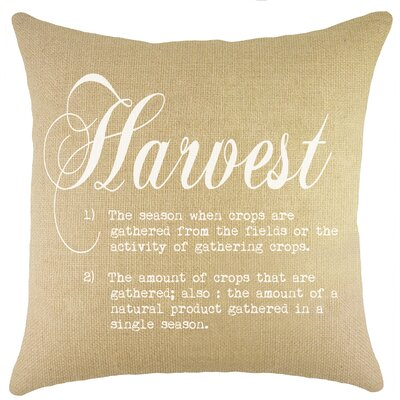 Harvest Burlap Throw Pillow Color: White