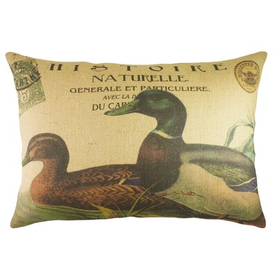 Ducks Burlap Lumbar Pillow